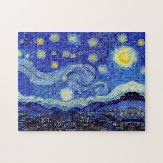 Starry Night Van Gogh Inspired Puzzles