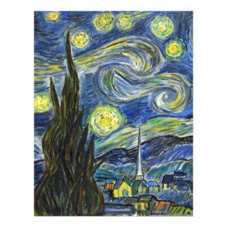 Starry Night, Van Gogh Letterhead