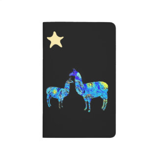 Starry Night, Van Gogh, Llama, Pocket Notebook