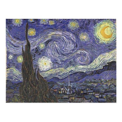 Starry Night - Van Gogh Post Card