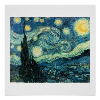 Starry Night Van Gogh Poster (High Quality)