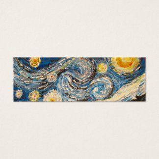 Starry Night Van Gogh repaint Bookmark Card