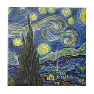 Starry Night, Van Gogh Tile
