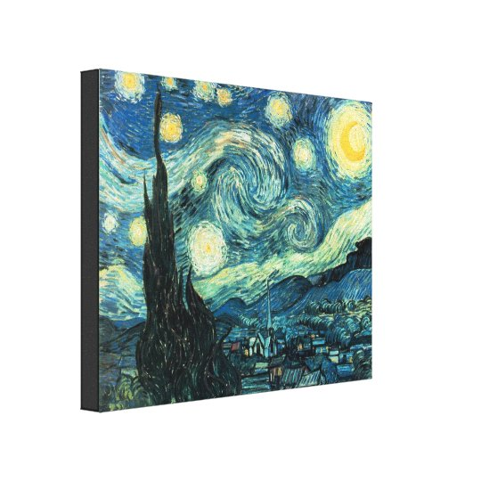 Starry Night Van Gogh Wrapped Canvas Print