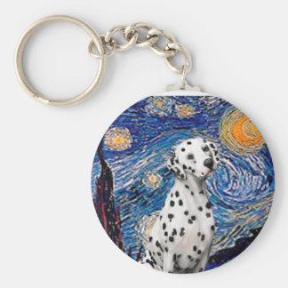 Starry Night (Vertical)  - Dalmatian Keychain