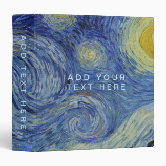 Starry Night Vincent van Gogh Binders