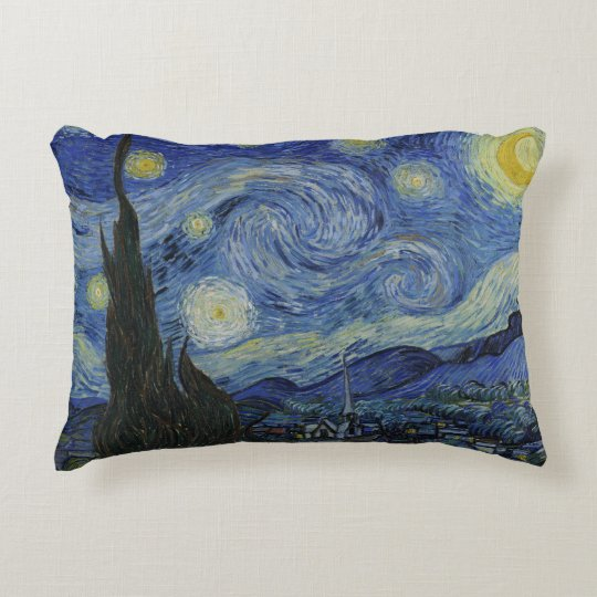 Starry Night Vincent van Gogh Decorative Pillow
