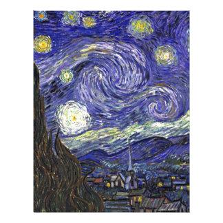 Starry Night, Vincent Van Gogh. Letterhead