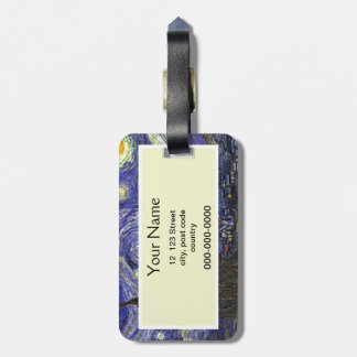 Starry Night, Vincent Van Gogh. Luggage Tag
