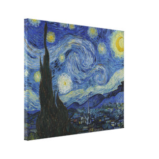 Starry Night Vincent van Gogh Painting Canvas Print