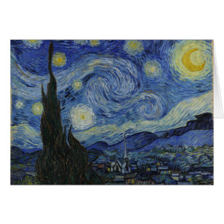 Starry Night Vincent van Gogh Painting Greeting Card