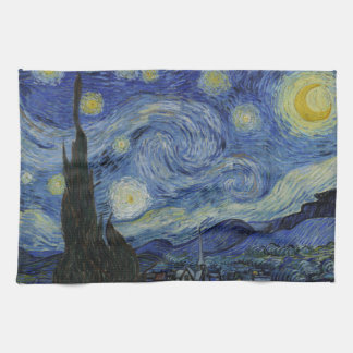 Starry Night Vincent van Gogh Painting Kitchen Towel