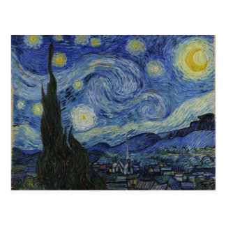 Starry Night Vincent van Gogh Painting Postcard