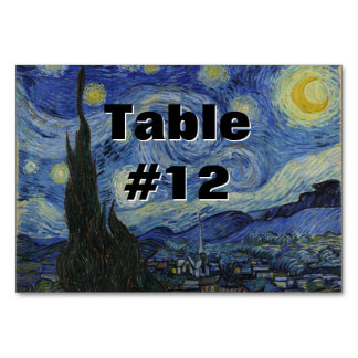 Starry Night Vincent van Gogh Painting Table Cards