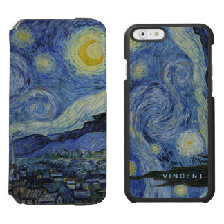 Starry Night Vincent van Gogh Personalized Incipio Watson™ iPhone 6 Wallet Case