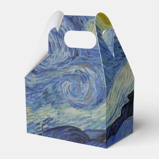 Starry Night Vincent van Gogh Wedding Favor Boxes