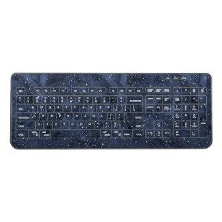 Starry Night Watercolor Sky Wireless Keyboard