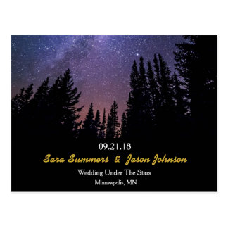 Starry Night Wedding Horizontal Save The Date Postcard