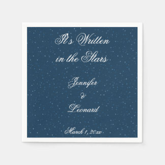 Starry Night Wedding Napkins Paper Napkins