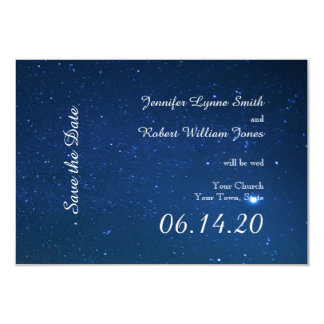 "Starry Night Wedding Save the Date 3.5"" X 5"" Invitation Card"
