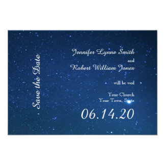 Starry Night Wedding Save the Date Invite