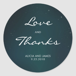 Starry Night Wedding Stickers