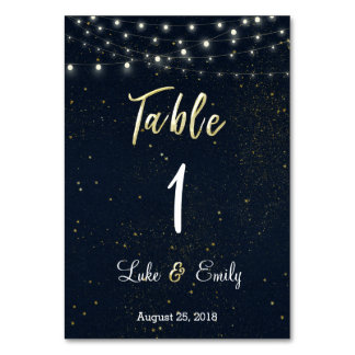 Starry Night Wedding Table Card