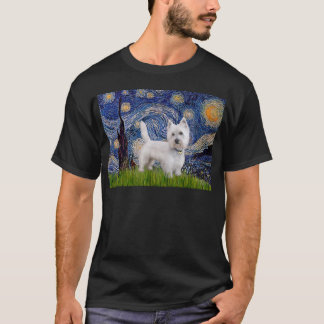 Starry Night - Westie 10 (L) T-Shirt