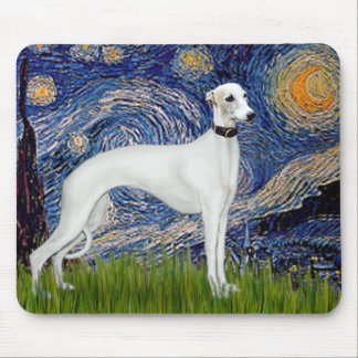 Starry Night - Whippet (11b) Mouse Pad