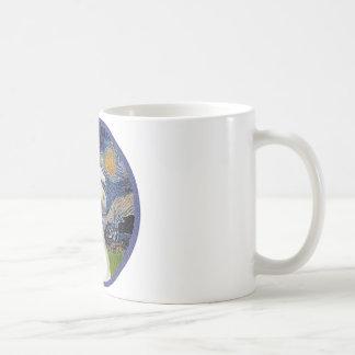 Starry Night - White Arabian Horse Portrait Coffee Mug