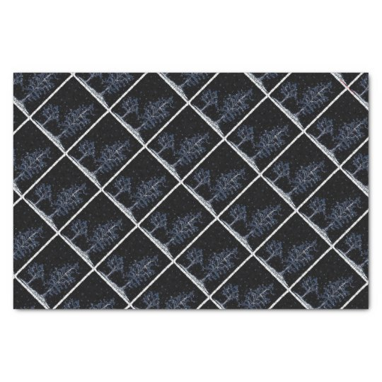 Starry Night Winter Trees Holiday Tissue Paper