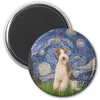 Starry Night - Wire Fox Terrier 3 Magnet