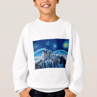 Starry Night with Romantic Castle Van Gogh inspire Sweatshirt