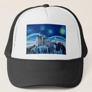 Starry Night with Romantic Castle Van Gogh inspire Trucker Hat