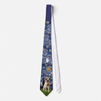Starry Night  Yellow Labrador Tie