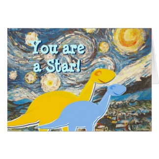 Starry Night You are a Star Dinosaurs Card
