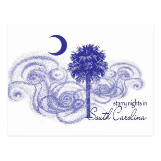 Starry Nights in South Carolina Postcard