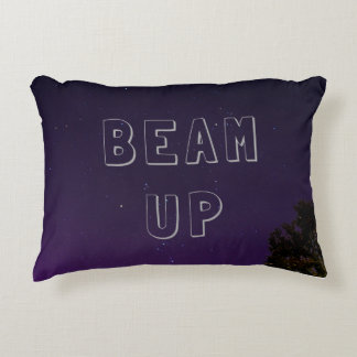 Starry nights pillow Beam Up