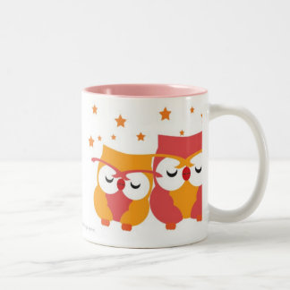 Starry Owls Two-Tone Coffee Mug