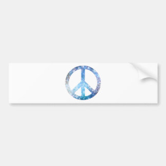 Starry Peace Sign Bumper Sticker