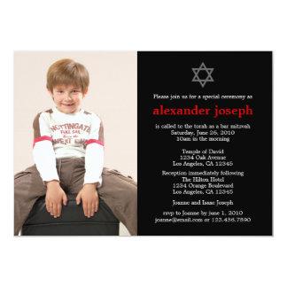 Starry Photo Bar Mitzvah Invitation