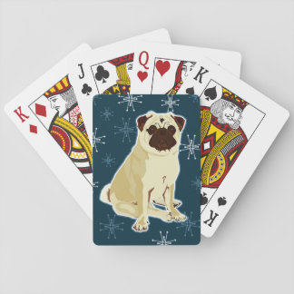 starry pug playing cards