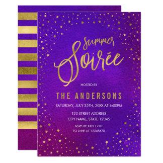 Starry Purple Watercolor Summer Soiree Card
