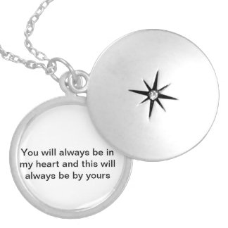 Starry quote necklace