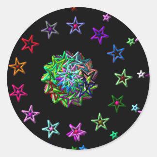 starry round sticker