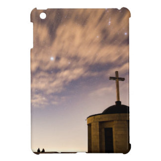 starry sky, church and cross case for the iPad mini