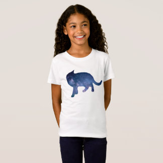 Starry Sky Galaxy Cat Silhouette, Cat Nights Shirt