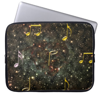 Starry Sky Musical Notes Music PC Laptop Sleeve