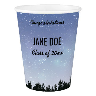 Starry Sky Personalized Graduation Cups Paper Cup