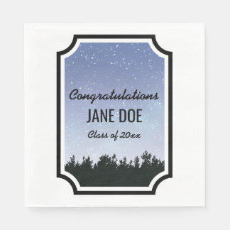 Starry Sky Personalized Graduation Napkins Disposable Napkin